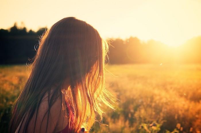 Portret w złotym słońcu.
