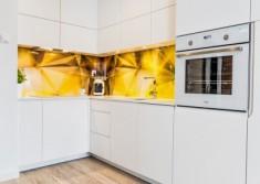 Zdjęcie nowoczesnej, modularnej kuchni w mieszkaniu pokazowym Mobiliani Design w Bydgoszczy. Moż ...